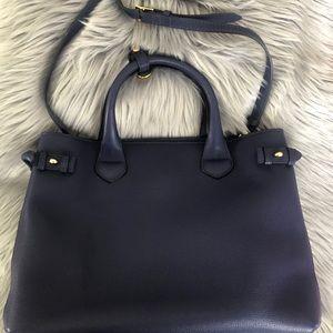 Burberry Bags - Burberry Navy Blue House Check Medium Canvas Bag